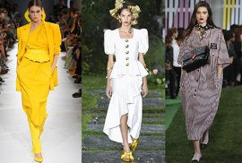 Trendy z přehlídek na jaro 2019: Nadýchané rukávy, vesty i košilové šaty!