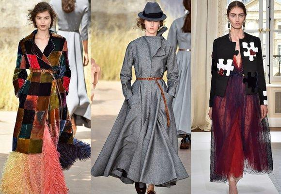 Podzimní trendy z přehlídkových mol: Patchwork, červená barva a pásky!