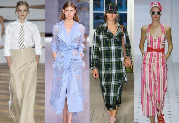 Trendy z Londýna: Průsvitné materiály, kostky i královská elegance