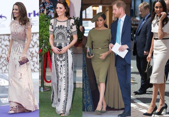 Módní značky a návrháři, na které nedají vévodkyně Kate a Meghan dopustit!