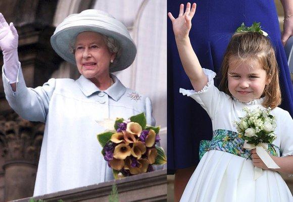 Princezna Charlotte je celá prababička! Podívejte se, jak se podobá královně Alžbětě II.