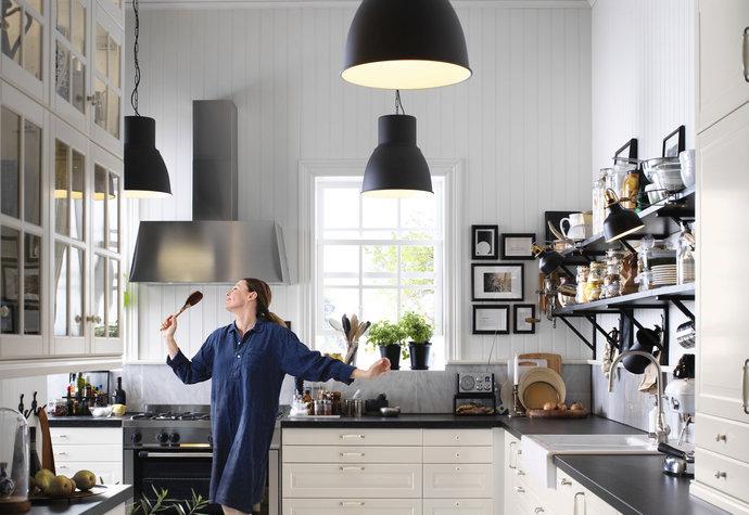 Praktickým řešením je oddělení kuchyně pomocí kuchyňského ostrůvku