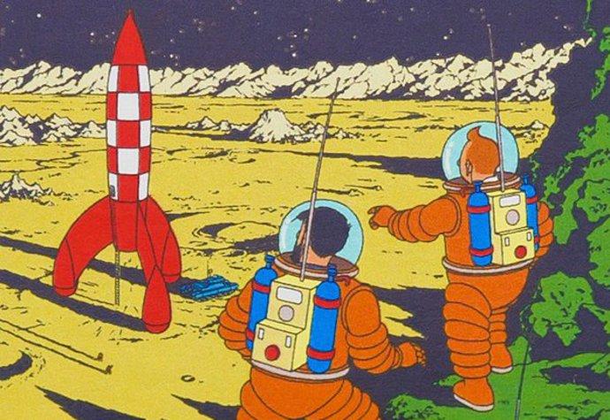 Obrázek s Tintinem byl vydražen za rekordních 40 milonů