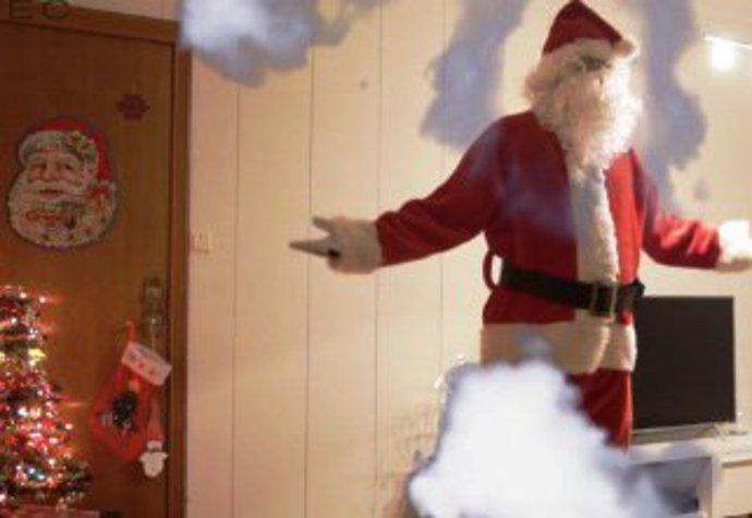 Santa Claus a skrytá kamera.