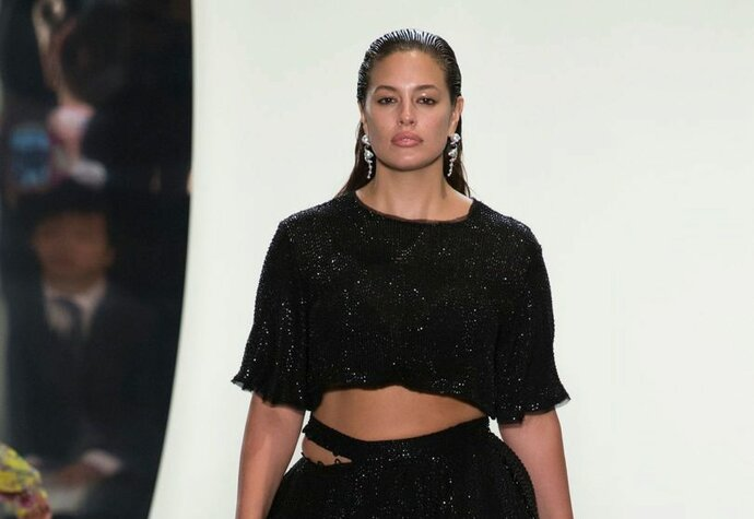 Ashley Graham na přehlídce Prabal Gurung jaro/léto 2018