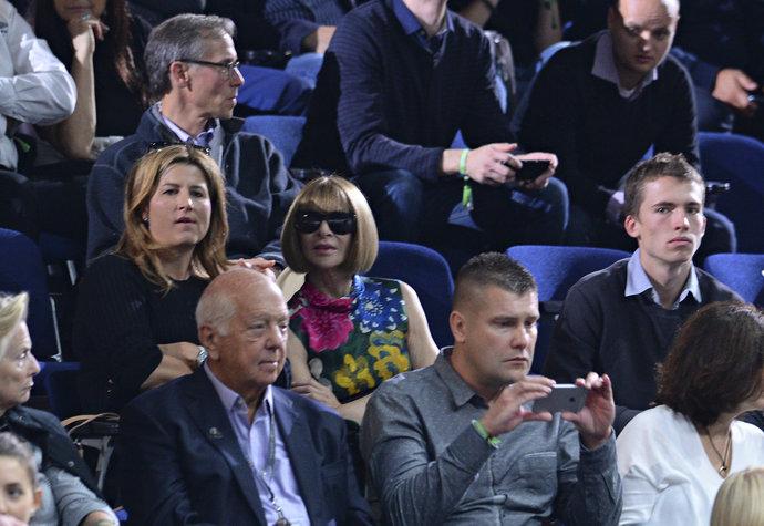 Mirka Federer a Anna Wintour společně fandí na Laver Cupu v Praze