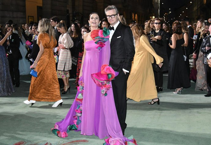Livia a Colin Firth na Green Carpet Fashion Awards