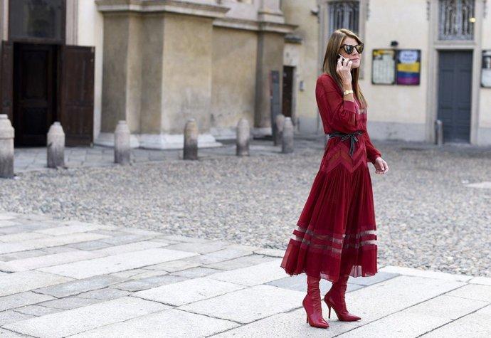 Anna Dello Russo na milánském fashion weeku