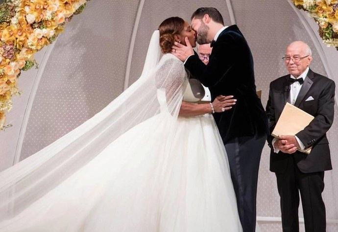 Serena Williams a Alexis Ohanian se vzali 16. listopadu 2017