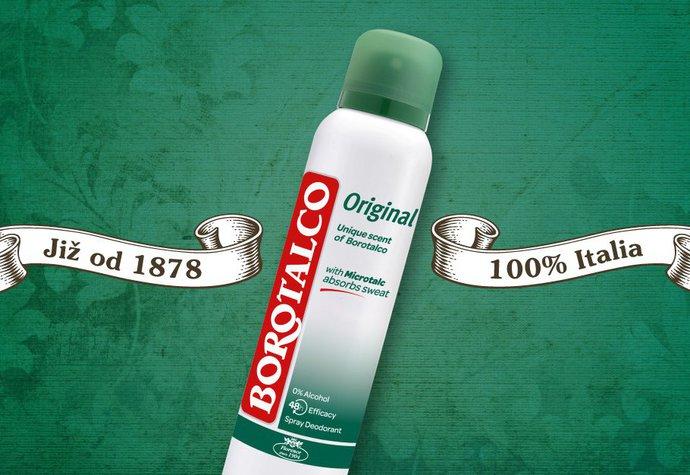 100% italskou kosmetiku Borotalco miluje již pátá generace