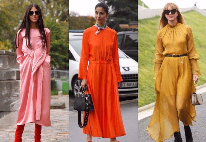 Inspirace z Paříže: Barevné midi šaty