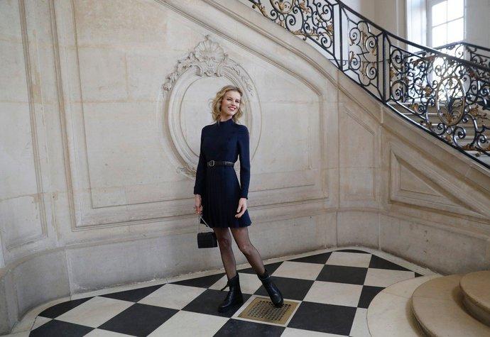 Eva Herzigová na přehlídce Dior