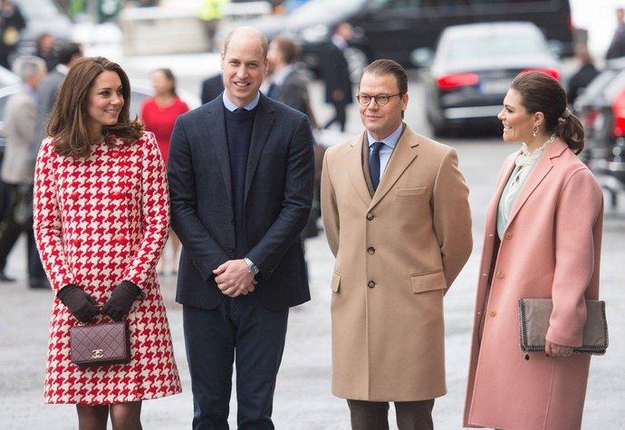 Kate Middleton a princ William na oficiální návštěvě Stockholmu