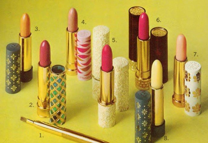70tá léta fandila geometrickým vzorům a barvám i na rtěnkách od Avonu