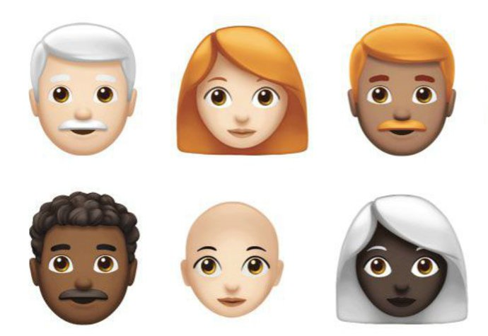 Nové emoji: Už letos přibudou šedé i zrzavé vlasy, papoušek nebo cupcake!