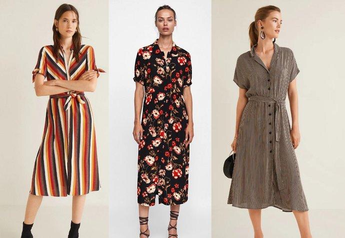Trendy šaty na podzim 2018  Pruhované 55bf68a658