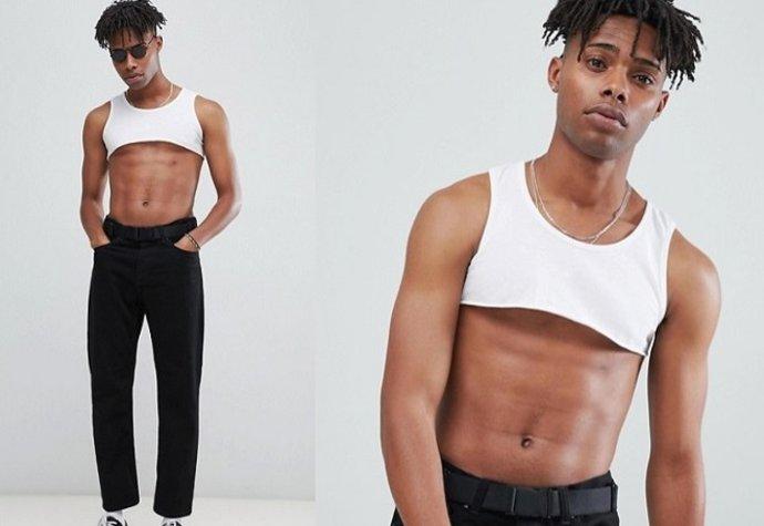 be31407a547 Bizarní módní trend  Crop topy pro muže!