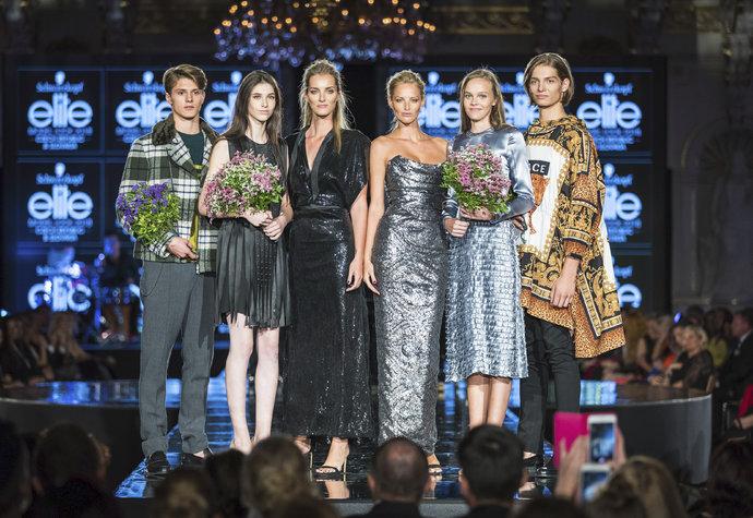 Vítězové Schwarzkopf Elite Model Look s topmodelkami Denisou Dvořákovou a Michaelou Kociánovou