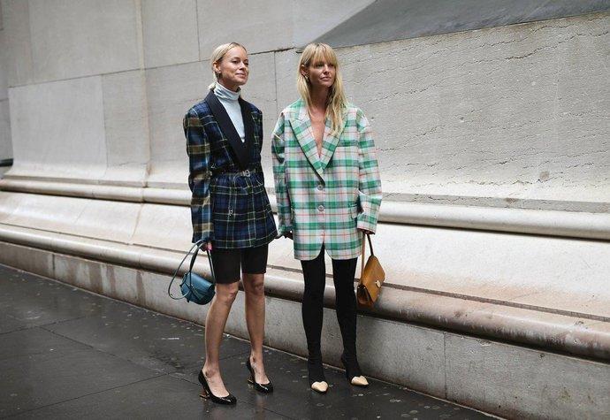Dánské módní ikony Thora Valdimars a Jeanette Friis Madsen na fashion weeku v New Yorku