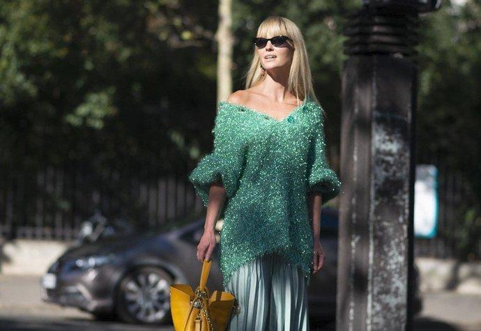 Jeanette Madsen na pařížském fashion weeku