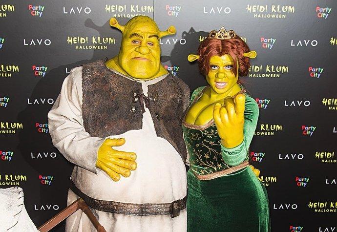 238ead2b6b Heidi Klum a její přítel Tom Kaulitz jako Fiona a Shrek (2018)