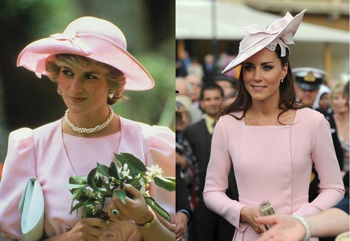 10 momentů, kdy se vévodkyně Kate oblékla podobně jako princezna Diana!