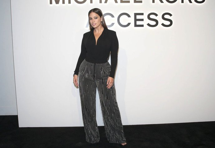Modelka Ashley Graham na party Michaela Korse