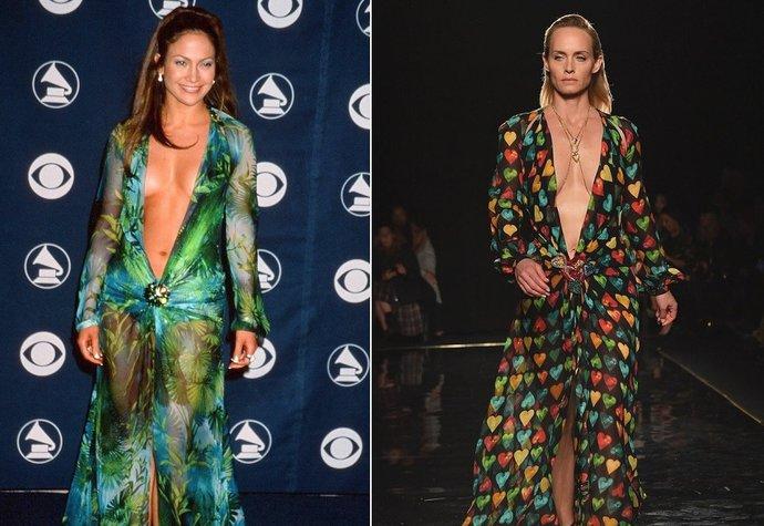2227e7cd694 Donatella Versace dala novou podobu ikonickým šatům