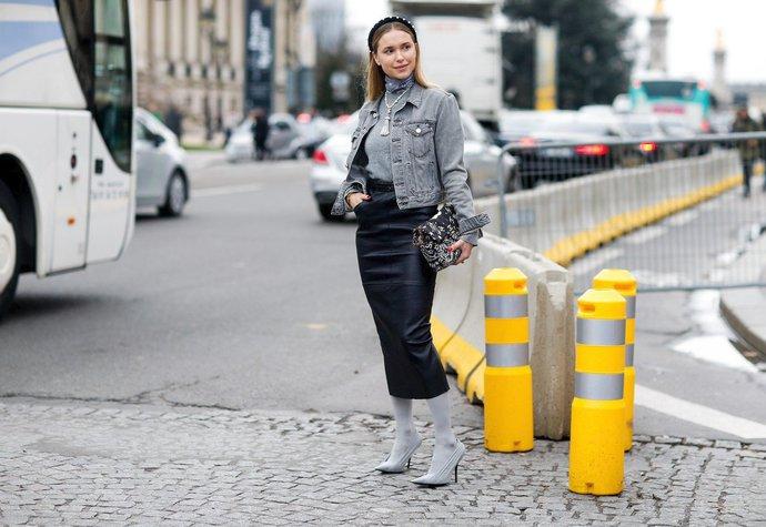 ff26c494311 Jak nosit pouzdrovou sukni – street style inspirace