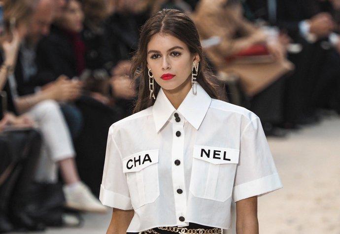 Kaia Gerber na přehlídce Chanel jaro/léto 2019