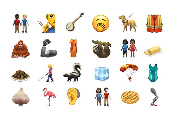 Nové emotikony přicházejí: Těšte se na plameňáka, vafle a možná i na Karla Gotta!