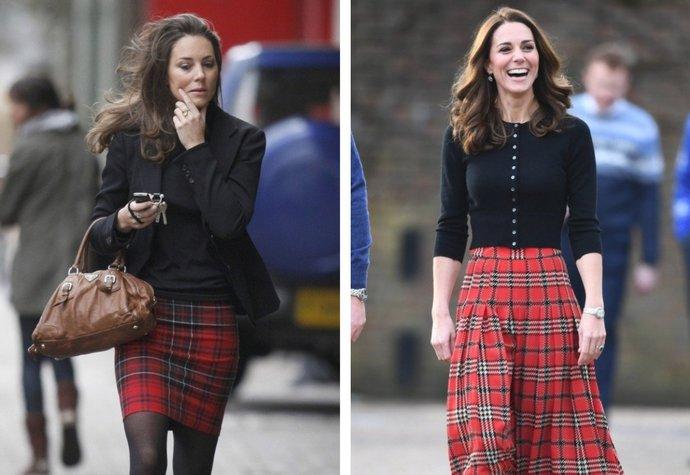 Vévodkyně Kate před svatbou a po