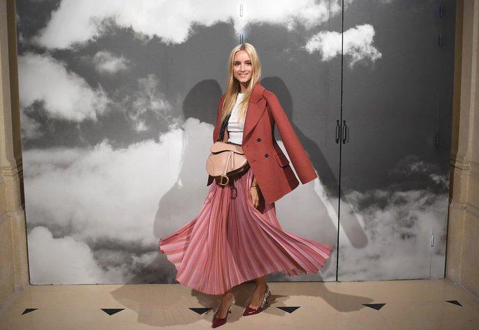 Módní influencerka Charlotte Groeneveld na přehlídce Dior