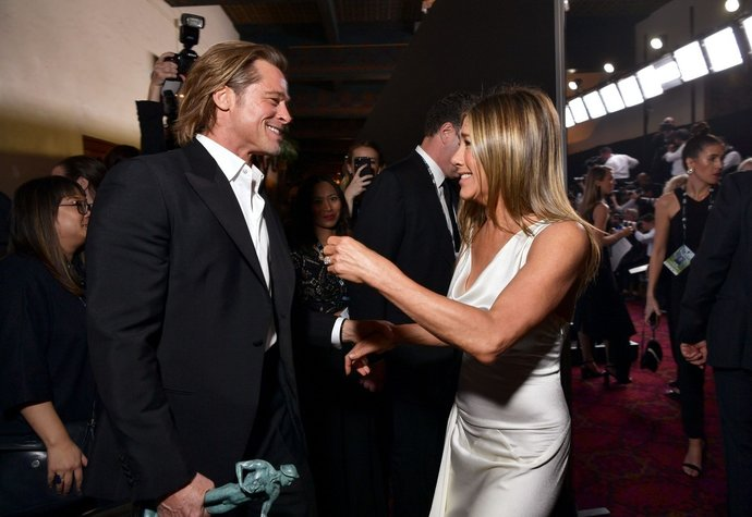 Brad Pitt a Jennifer Aniston na SAG Awards (2020)