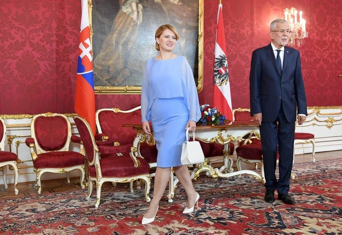 Zuzana Čaputová během státní návštěvy Rakouska