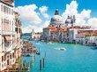 Takzvaný Velký kanál – Canal Grande – a výhled na baziliku Santa Maria della Salute