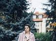 Pudrově růžový kabát s kašmírem, 9200,-