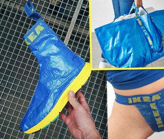 Kreativita nezná mezí: Z modré tašky IKEA vyrábějí lidé batohy, boty i tanga!