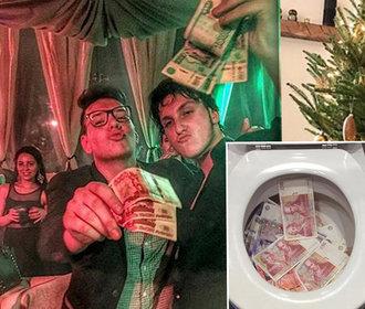 Tryskáče, peníze v záchodě a okázalý luxus: Jak se chlubí zlatá mládež na Instagramu?