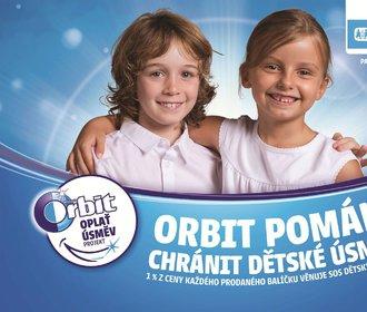 Orbit oplácí úsměvy a SOS dětským vesničkám daruje 964 641 Kč!