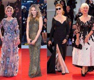 Šaty v Benátkách: Starší herečky zastínily své mladší kolegyně