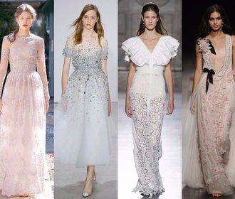Inspirace z přehlídek: Nejkrásnější šaty, které by klidně mohly být svatební