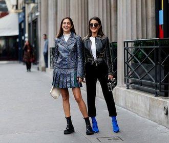 Nejžhavější doplňky v ulicích Paříže: Barety a úzké sluneční brýle