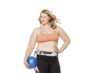 Hubneme do plavek: Šárka občas musí cvičit pomaleji, než byla zvyklá