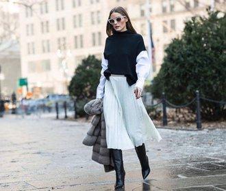 Ke svetru a kozačkám: 20 podzimních sukní, které si zamilujete