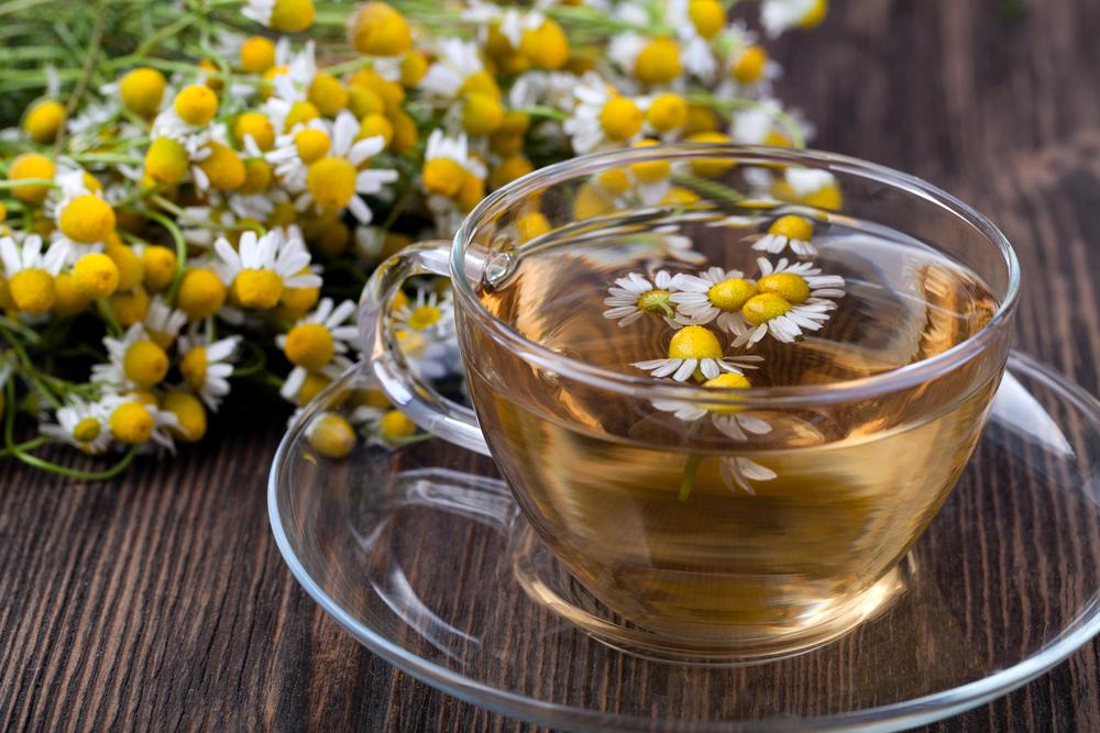Bylinky, byliny, čaj, heřmánek