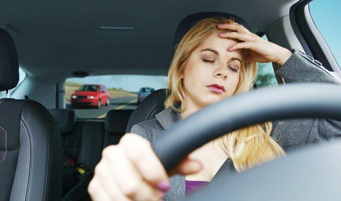Únava v autě