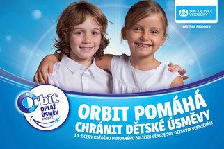 Orbit už potřetí podpoří SOS dětské vesničky. Zapojte se i vy a oplaťte úsměv znevýhodněným dětem