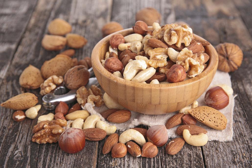 Ořechy jsou také dobrým zdrojem vlákniny