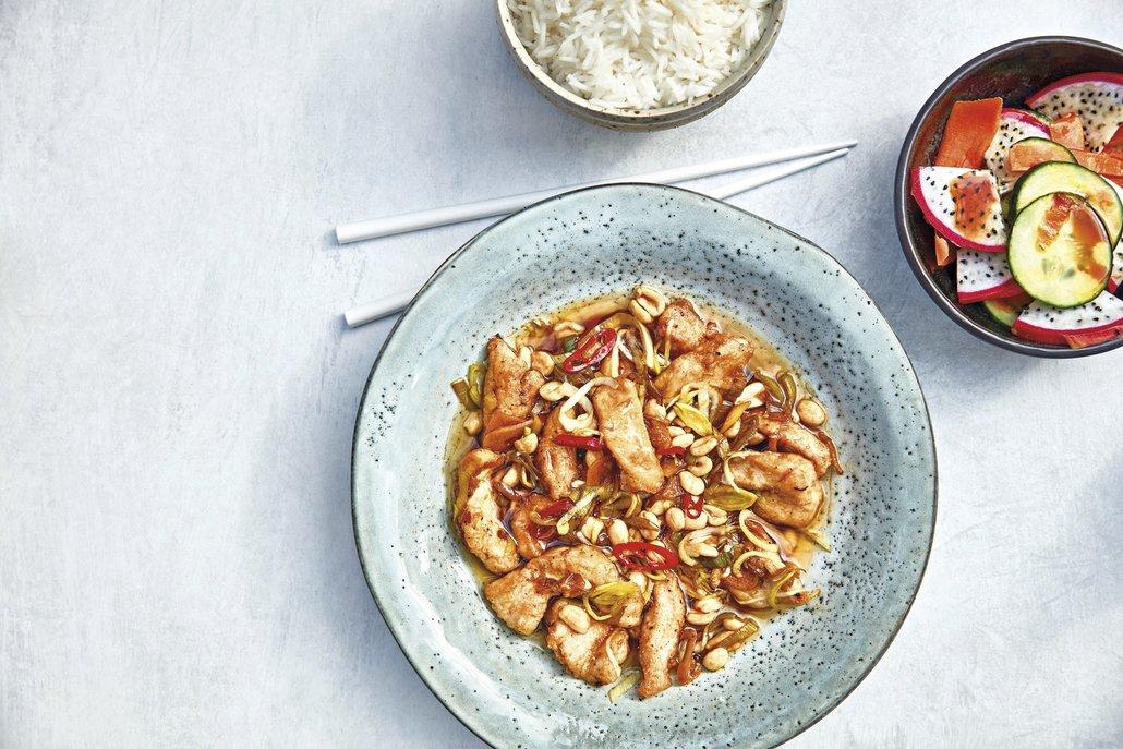 Hlavní charakteristikou asijské kuchyně je pestrost. Pokrmy se připravují krátkou dobu (například vpánvi wok) vkombinaci sčerstvými surovinami.
